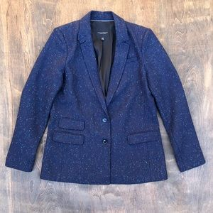Banana Republic Hacking Jacket Blazer Blue specks